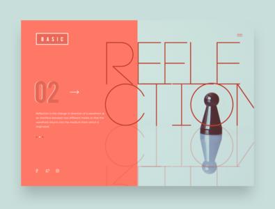 Webpage - Reflection branding webpagedesign concept design typography web design app design flat ui landing page design webdesign minimalistic ui illustrator sketch responsive design ux web app