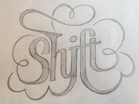 Shift hipster t-shirt logo (WIP)
