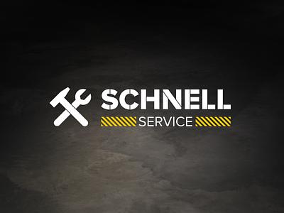 Schnell Service Logo logo identity