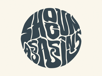 Shogun Assassins Logo logo lettering psychedelic mark