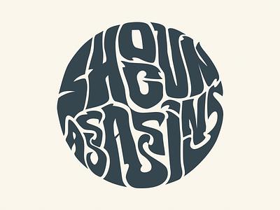Shogun Assassins Logo logo lettering psychedelic mark