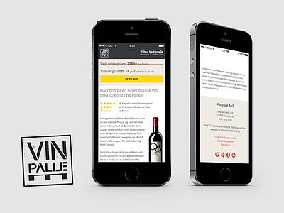 Vinpalle.dk mobile webdesign design responsive identity branding