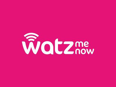Watz Me Now Logo branding identity logo