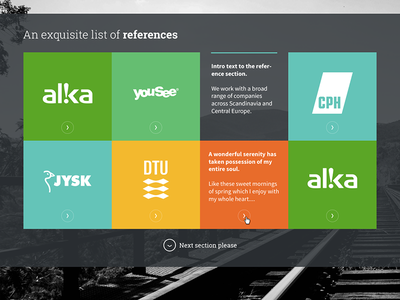 Reference Section design webdesign references colourful