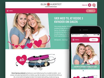 Elsk Hjertet ui webdesign design