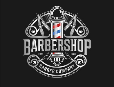 Barbershop logo Salon hair cut vintage