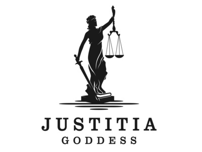 Attorney and Law Logo Lady Justice, justitia goddess.