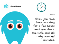 Mid week blues! inspire tips ideas funny animation hours minutes time character
