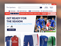 Soccer eCommerce Concept