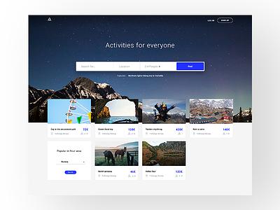 Activity Portal portal web design web ux ui