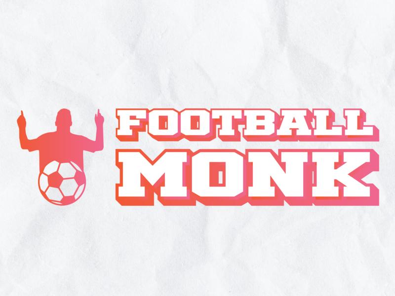 Football Monk brand character art clean web identity illustrator lettering type minimal flat icon typography branding vector logo illustration design