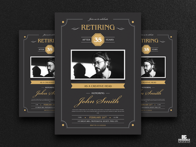 Free Retirement Invitation Flyer Template template download psd freebies flyer templates flyer design