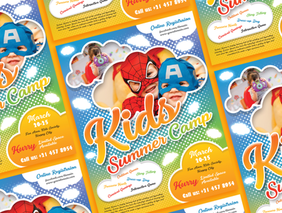 Free Kids Summer Camp Flyer Design Template download freebie template templates graphics design print design flyer template flyer design flyer design template flyer summer camp flyer summer flyer summer camp kids summer camp flyer