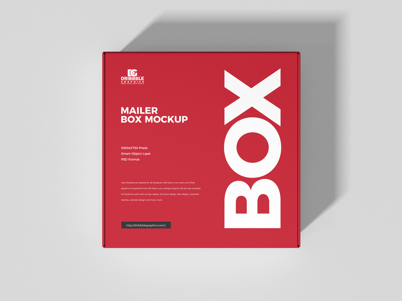 Free Mailer Box Mockup psd print template stationery mockups packaging identity freebie free box mockup mockup psd mockup free free mockup mock-up mockup packaging design packaging mockup download branding