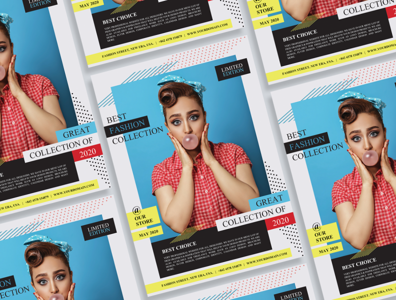 Free Fashion Flyer Design By Jessica Elle On Dribbble