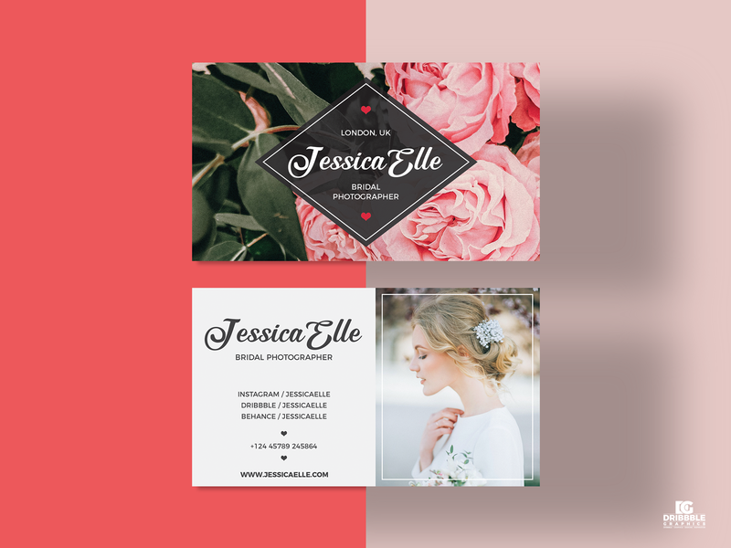 Free Bridal Photography Business Card Template stationery design print design print freebies freebie templatedesign templates photography bridal business card template business card design business cards free business cards business card