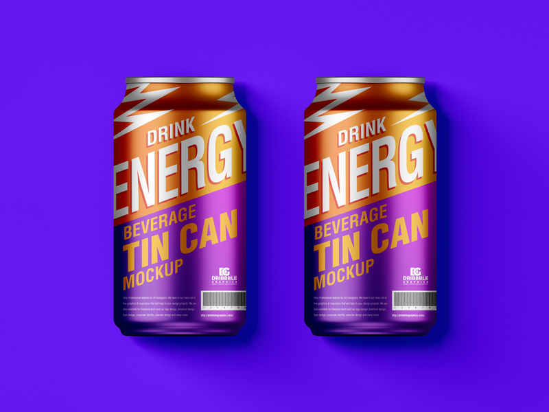 Free Beverage Tin Cans Mockup psd print template stationery mockups drink can mockup identity freebie free packaging mockup mockup psd mockup free free mockup mock-up mockup enery drink packaging download branding