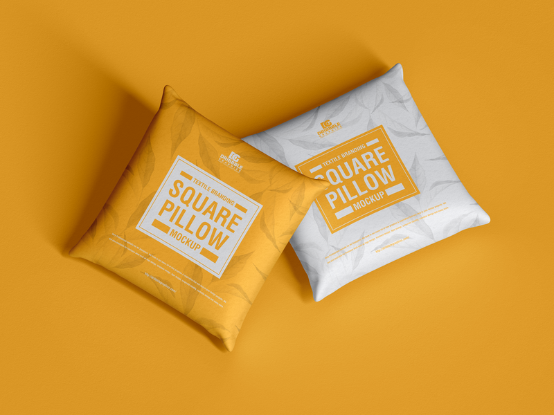 Free Branding Square Pillow Mockup psd print template stationery mockups logo identity freebie free pillow mockup mockup psd mockup free free mockup mock-up mockup graphics font download branding