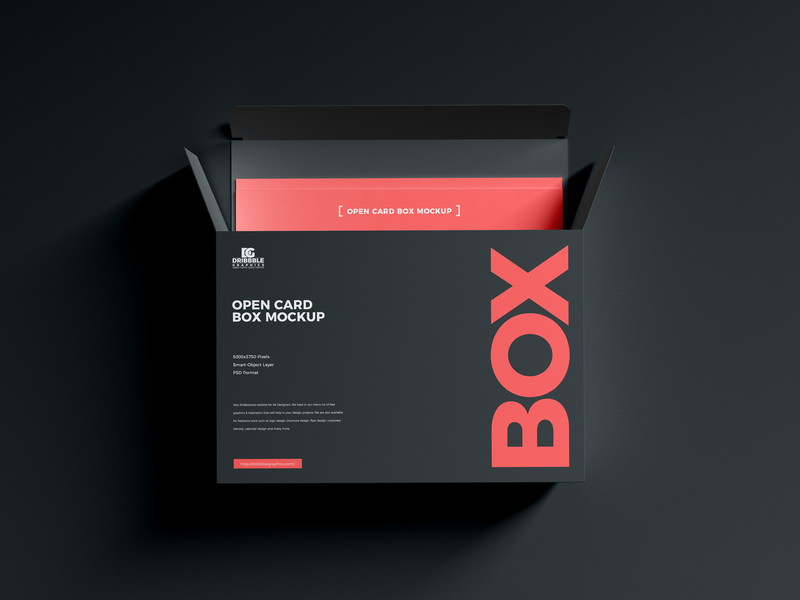 Free Open Card Box Mockup psd print template stationery mockups logo identity freebie free packaging mockup box mockup mockup psd mockup free free mockup mock-up mockup packaging design packaging download branding