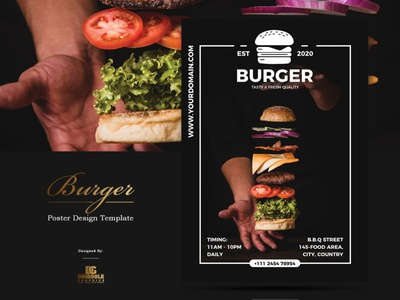 Free Burger Poster Design Template poster template freebie burger flyer posters print design download freebies free poster collection poster design poster