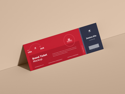 Free Ticket Mockup PSD psd print template stationery mockups logo identity freebie free ticket mockup air ticket mockup mockup psd mockup free free mockup mock-up mockup ticket font download branding