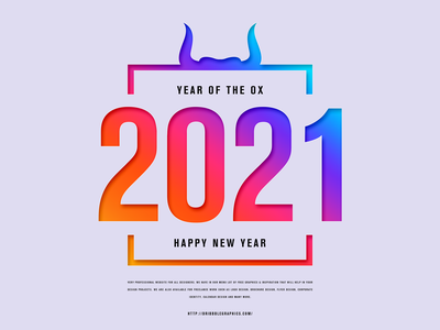 Free Happy New Year 2021 Year of the OX Template banners banner download psd freebies free templates template 2021 template 2021 banner happy new year 2021 2021 new year 2021