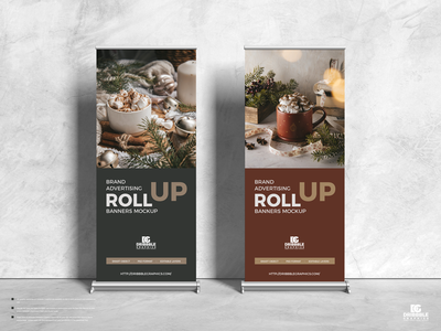 Free Advertising Roll Up Banners Mockup psd print template stationery mockups logo identity freebie free roll-up mockup banner mockup mockup psd mockup free free mockup mock-up mockup banner standee mockup download branding