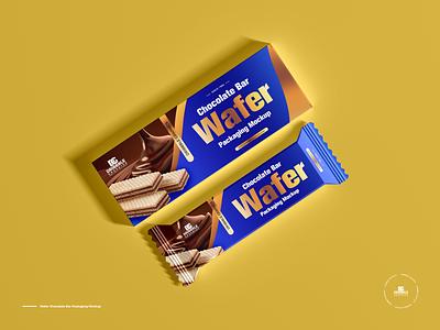 Free Wafer Chocolate Bar Packaging Mockup packaging mockup