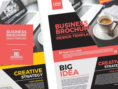 Free Business Brochure Design Templates By Jessica Elle Dribbble