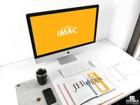 Free Workspace iMac Mockup PSD 2018