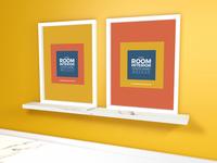 Free Room Interior Poster Frame Mockup 2018