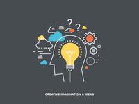 Free Creative Imagination & Ideas Vector Illustration