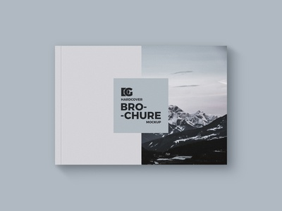 Free Horizontal Brochure Mockup Psd