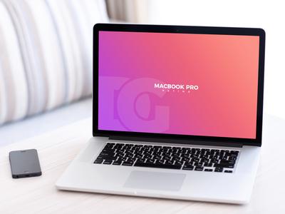 Free Macbook Pro Retina Mockup Psd 2018