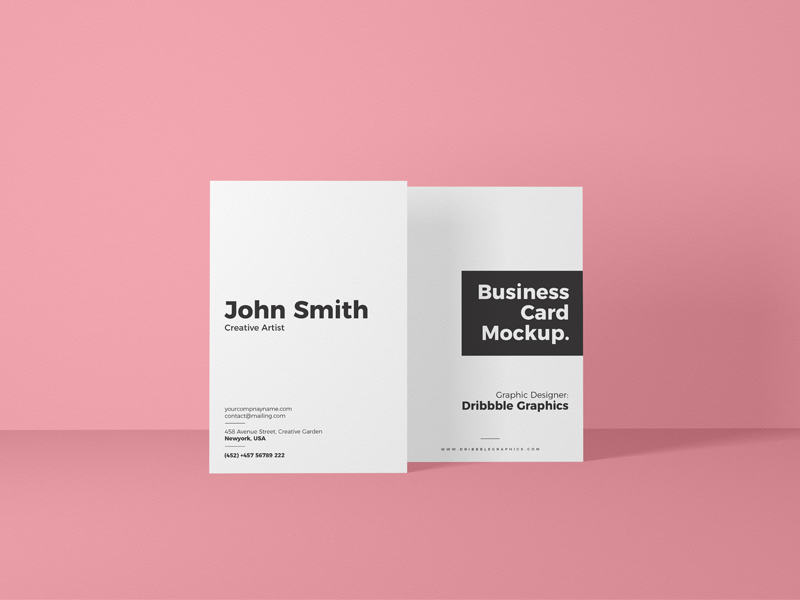 Free Vertical Front View Business Card Mockup template psd branding design freebie free mockup mockup psd mockup free mockup business card mockup
