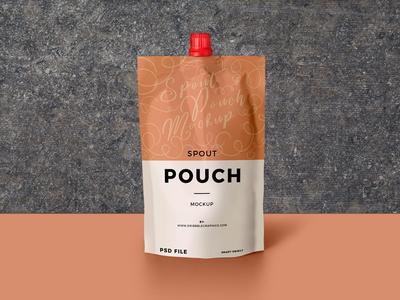 Free Spout Pouch Mockup PSD best branding packaging freebie free mockup psd mockup free free mockup mockup pouch mockup