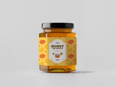 Free Honey Jar Mockup Psd 2018 freebie free mockup design mockup psd mockup free free mockup mockup graphics honey jar mockup