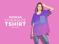 Free Woman Fashion Oversize T Shirt Mockup Psd