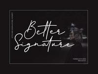 Free Better Signature Font