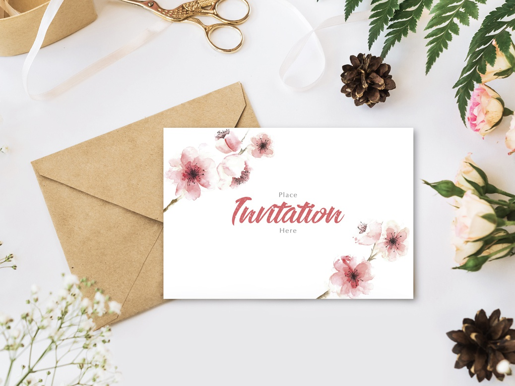 Free Stylish Branding With Flowers Invitation Mockup Psd template freebies mockup template free psd mockup free branding psd mockup mockup psd psd mockup free mockup freebie free mockup invitation invitation mockup