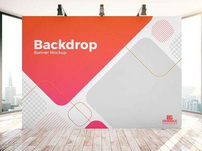 Free Indoor Advertisement Backdrop Banner Mockup PSD advertising template freebies free psd mockup mockup template free branding psd mockup psd mockup psd mockup free mockup free mockup freebie banner mockup backdrop mockup