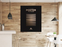Free Restaurant Indoor Wooden Wall Poster Frame Mockup Psd