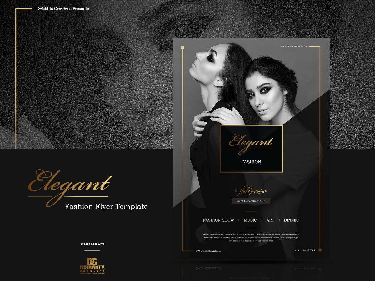 free elegant fashion flyer template by jessica elle dribbble