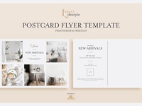 Free Interior Postcard Flyer Psd Template