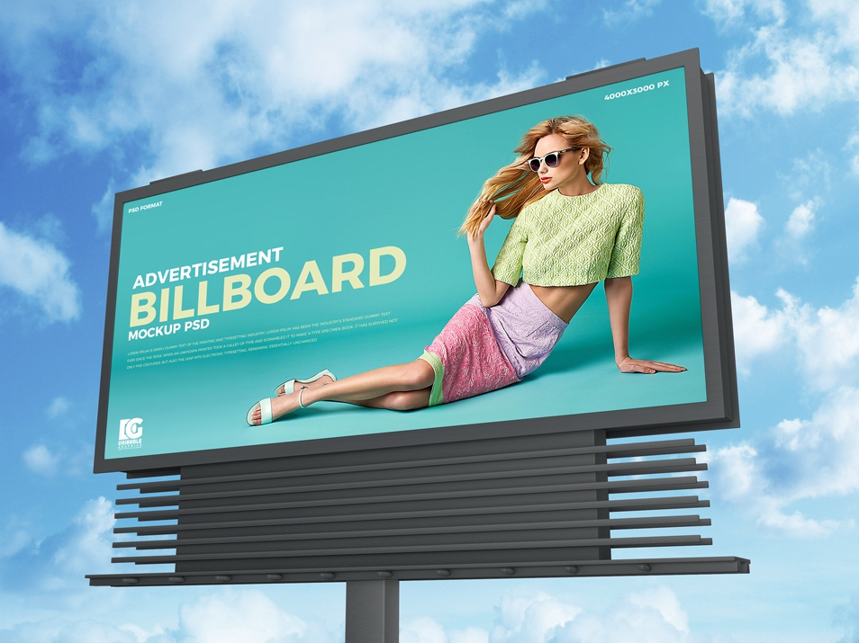 Free Sky Advertisement Billboard Mockup Psd graphic graphic  design graphics advertising template freebies free psd mockup mockup template free branding psd mockup mockup psd psd mockup free mockup free mockup freebie billboard mockup