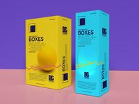 Free Photo Realistic Boxes Mockup Psd