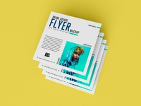 Free Brand Square Flyer Mockup