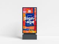 Free Advertising Signage Mockup PSD