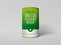 Free Tin Can Packaging Mockup PSD