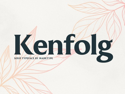 Free Kenfolg Serif Demo free fonts download freebie free lettering free font font serif font
